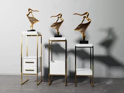 现代摆件 现代摆件 雕塑台 雕塑 工艺品