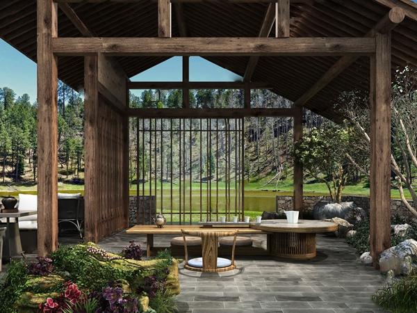 新中式室外茶室