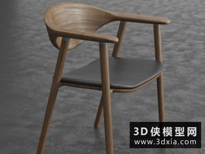 现代木质北欧椅子