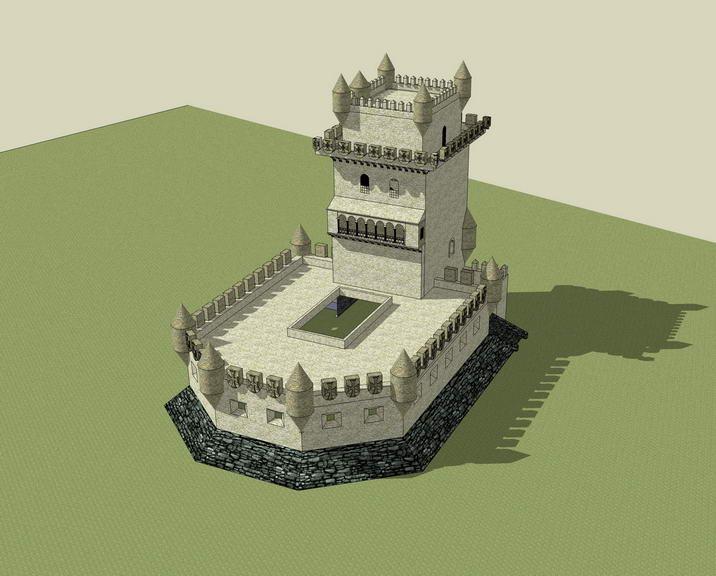 仿古碉楼SU模型
