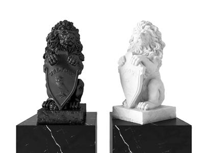 现代狮子雕塑摆件 现代雕塑 狮子雕塑