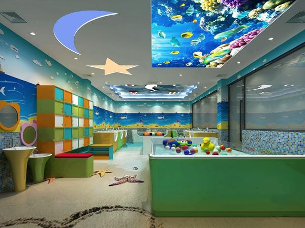 现代母婴游泳馆 现代其他 泳池 储物柜 洗手台 玩具