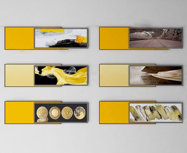 现代创意装饰画3d模型