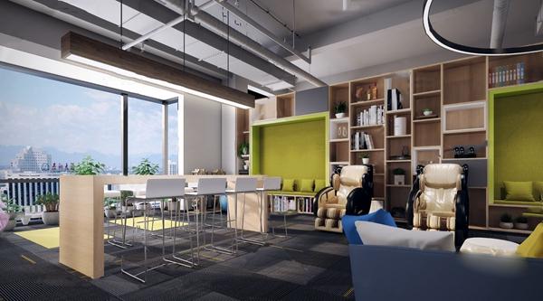 工业风办公休息区3d模型