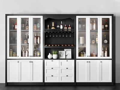 现代实木酒柜 现代酒柜