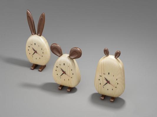 北欧萌物闹钟 北欧闹钟 萌物闹钟 兔子闹钟