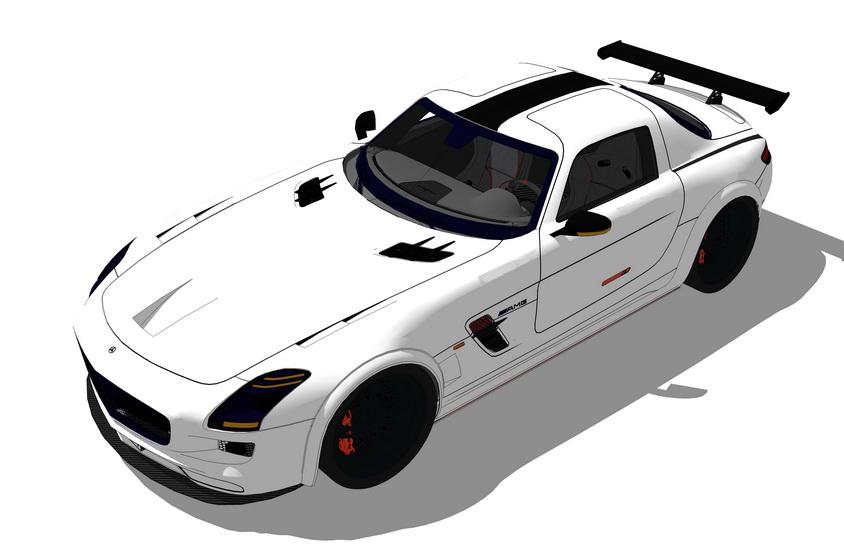 汽车跑车SU模型