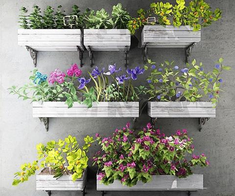 工业风壁挂植物 工业风花艺 壁挂 植物 花草 墙饰 隔板