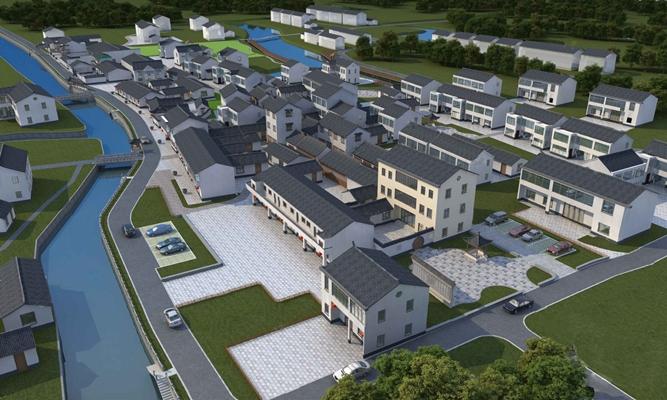 现代小区建筑3D模型