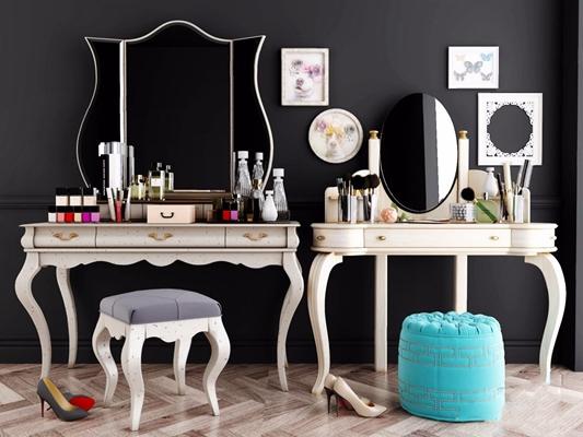欧式梳妆台 欧式梳妆台 化妆桌凳 化妆品