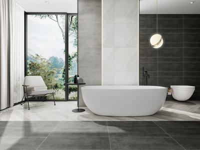 现代浴缸休闲椅组合3d模型