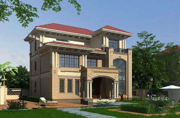 经典欧式别墅3D模型