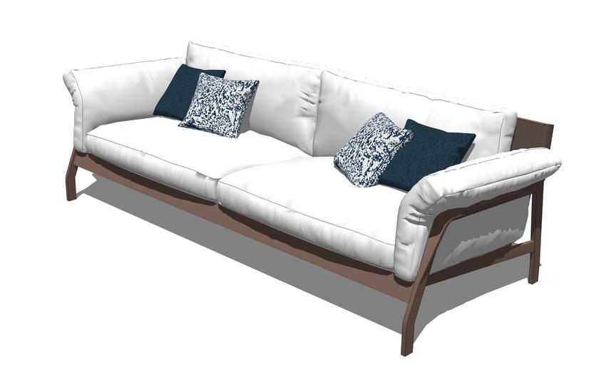 雙人沙發SU模型