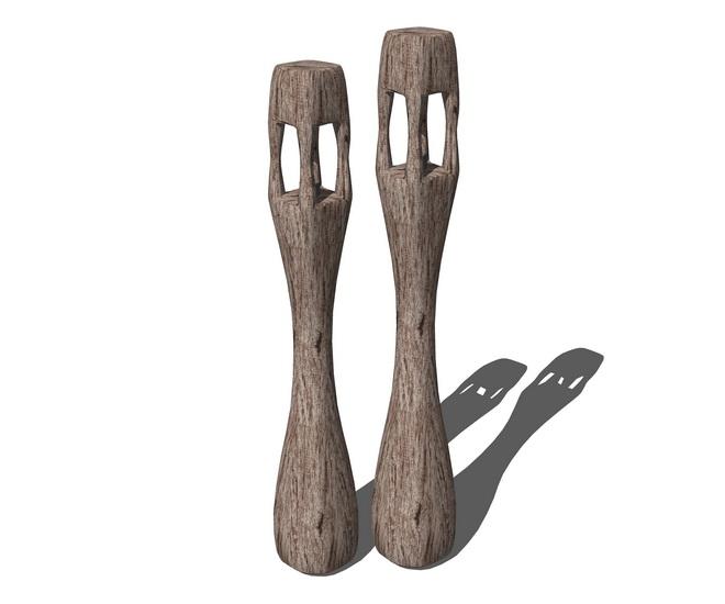 木制摆件SU模型