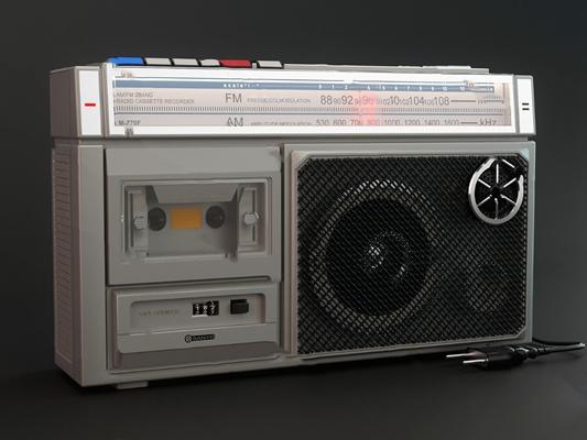 现代收音机3D模型