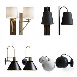 现代壁灯组合 现代壁灯 壁灯组合 金属壁灯