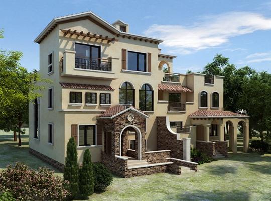 现代独栋别墅3D模型