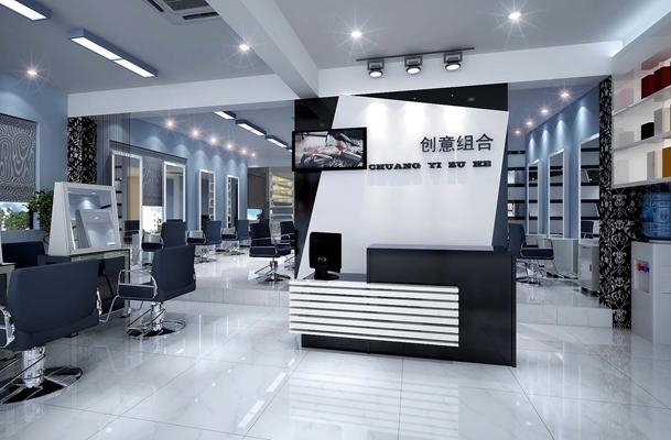 现代理发店 现代前台桌