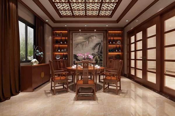 传统中式棕色长方形木艺餐边柜