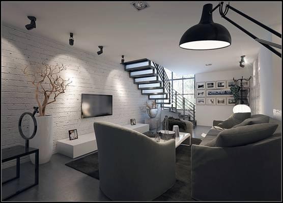 北欧灰色布艺单人沙发