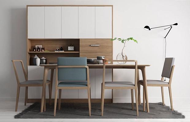 现代北欧餐桌椅 北欧餐桌 餐椅 餐边柜 桌椅组合