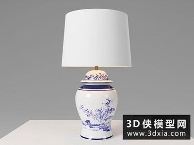 中式青花瓷台灯