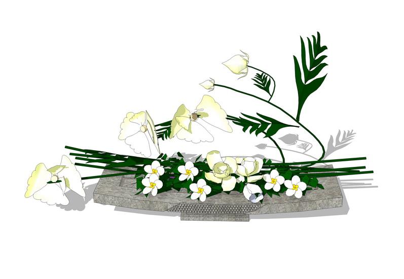 植物装饰摆件SU模型