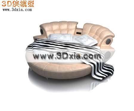 很漂亮的圆床3D模型
