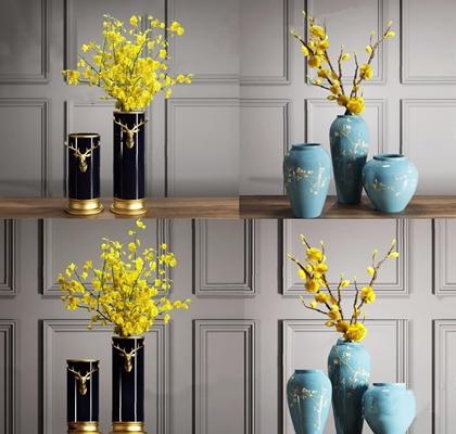新中式花艺 现代花艺 花瓶