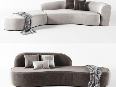 現代布藝異形沙發3d模型