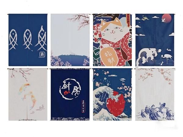 日式窗帘挂帘组合3d模型