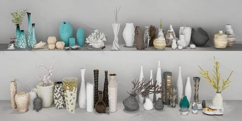 花瓶3D模型下载