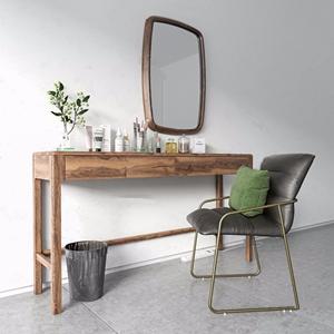 Norhor 现代梳妆台单椅组合 现代梳妆台 化妆品 单椅 抱枕 插座 废纸篓 Norhor