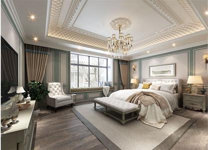 法式臥室3d模型