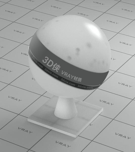 白色半透明塑料Vray材质下载