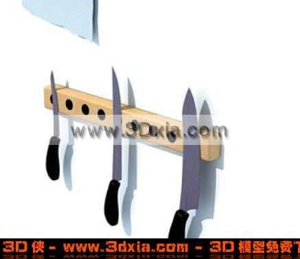 3D精致的到具壁式刀架模型