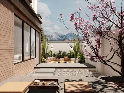 现代流行现代庭院花园国外3D模型下载