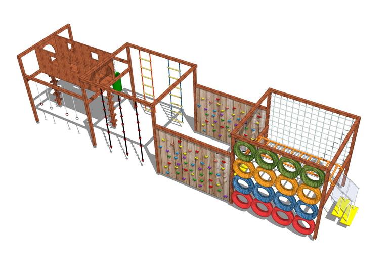 儿童娱乐设施SU模型