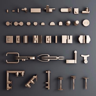 现代五金件3D模型