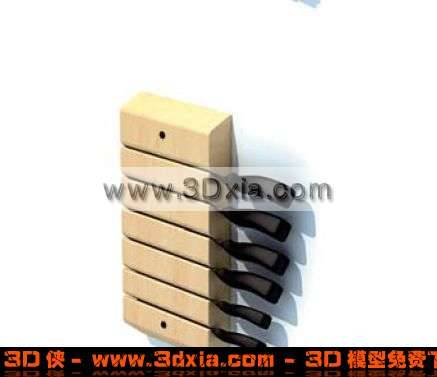 3D一个普通的壁式刀架模型下载