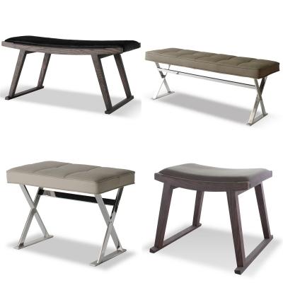现代简约脚凳组合3D模型