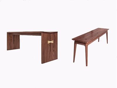 静研 现代长凳 现代凳子 长凳 静研