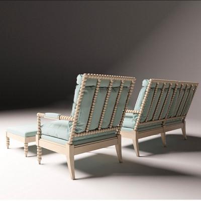 地中海风格休闲沙发椅小清新 地中海风格休闲沙发椅