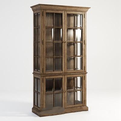 美式简约玻璃嵌合机柜柜 金属 酒柜 玻璃 红酒柜 镂空 蜂窝 九宫格 酒品展柜 收藏柜 博物柜