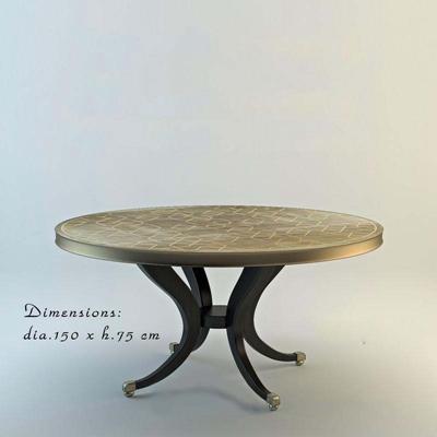 现代简约欧式金属材质圆桌null