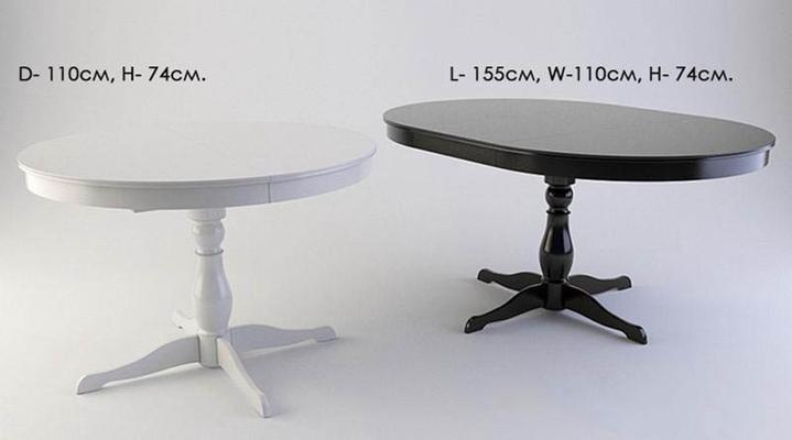 北欧简约纯色圆形餐桌null