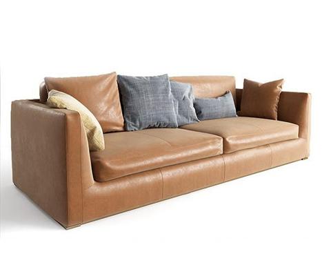北欧皮革双人沙发3D模型
