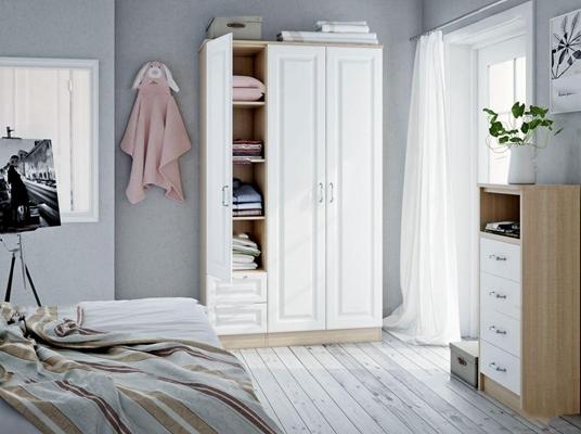 北欧实木衣柜3D模型