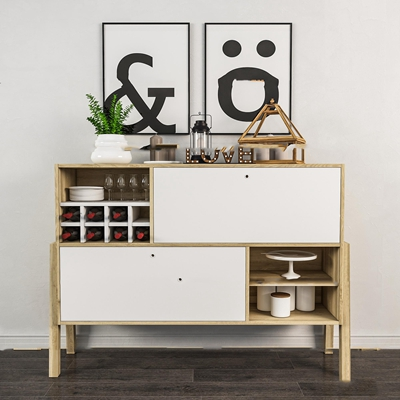 现代餐边柜酒柜摆件组合3SD模型