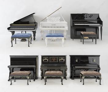 欧式钢琴 简欧体娱器材 钢琴